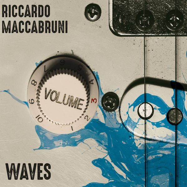 Riccardo maccabruni waves album rock volume guitar cover front ultrasound records